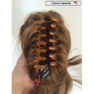 хвост Шиньон из натуральных волос на крабе 709