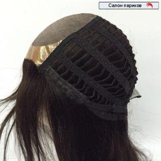 длинный натуральный парик 100004 Mono (темно-каштановый)