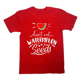 "Футболка с надписью ""Don't eat watermelon seeds"""