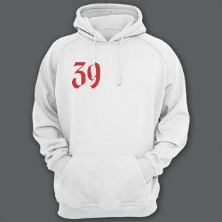 Именная толстовка с средневековым шрифтом и щитом #48