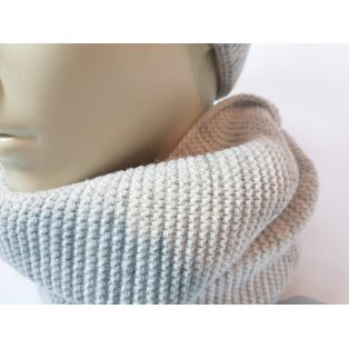 Комплект шапка и шарф унисекс (светло-серый)