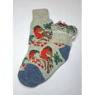 Красочные шерстяные носки с птицами женские