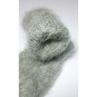 Варежки шерстяные пуховые женские со снегирём