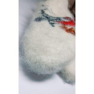 Варежки шерстяные пуховые женские белые