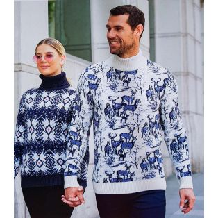 Женский свитер с узором 130-124