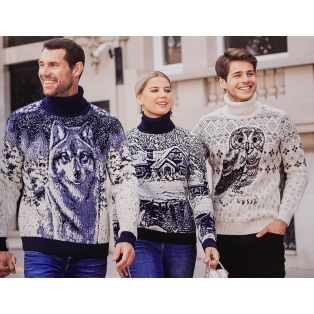 Мужской свитер с совой 130-14 (унисекс)