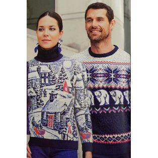 Мужской свитер с белыми медведями 220-152