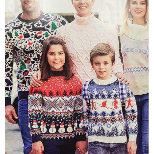 Мужской свитер с оленями 220-155