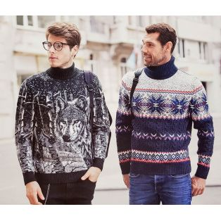 Мужской свитер с орнаментом 230-412
