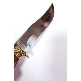 Охотничий нож Лось-1, длина лезвия 15 см, с гравировкой