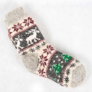 Доступные шерстяные носки в нейтральном сером цвете