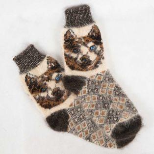 Модные шерстяные носки с веселыми животными