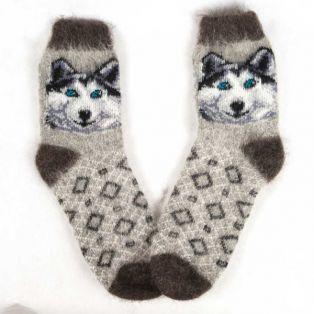 Модные шерстяные носки с парочкой веселых животных