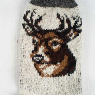 Зимние шерстяные носки для мужчин с русунком оленя