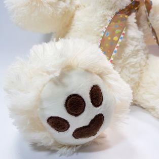 Белый плюшевый мишка Кейт - 45-50 см