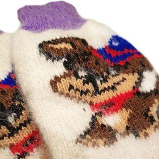 Носки шерстяные, женские, с симпатичной собачкой, размер 35-39