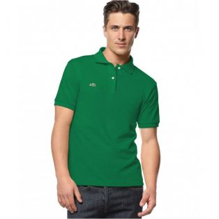 Polo Lacoste зеленая