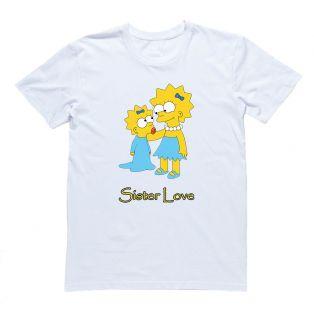 "Женская футболка с Лизой Симпсон ""Sister love"""