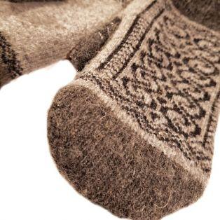 Варежки мужские, натуральная шерсть, вязанные, с узорами