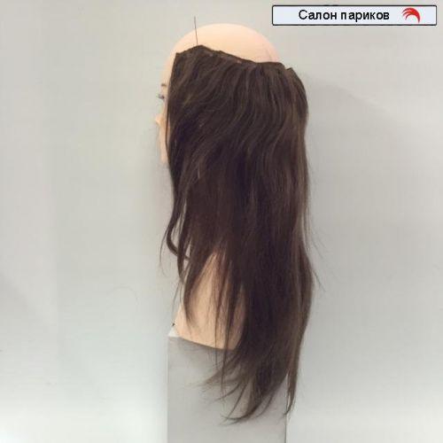 Затылочная накладная прядь из натуральных волос 49 см