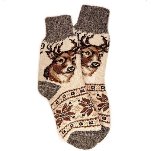 Носки шерстяные, женские, с оленем, размер 35-39