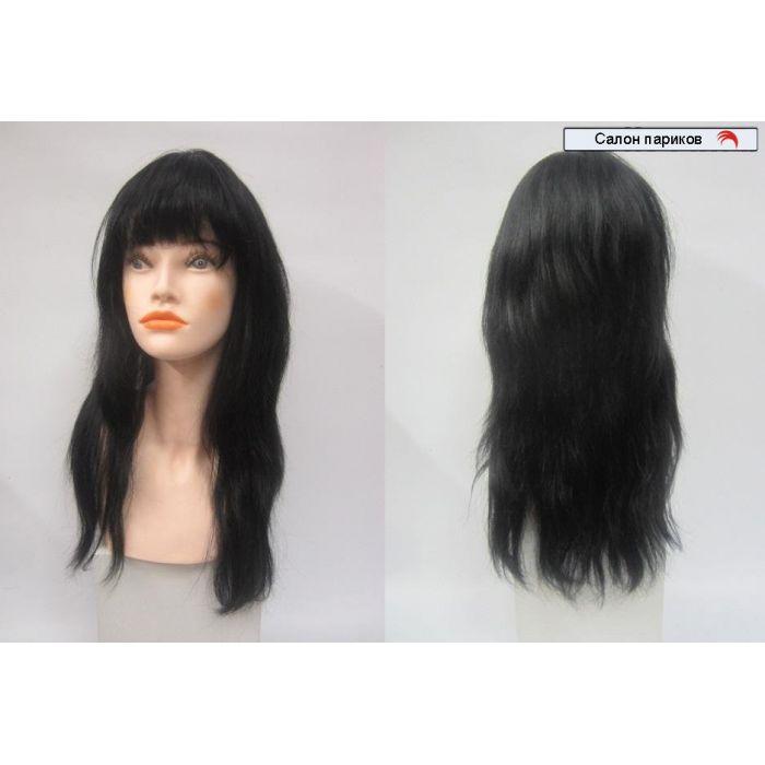 парики из натуральных волос 100101 (цвет волос черный)