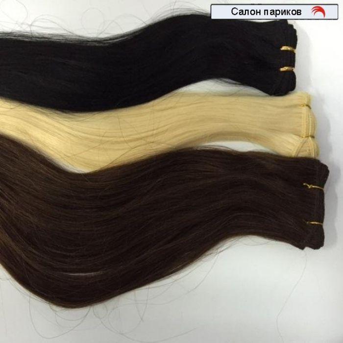 волосы на трессах славянские натуральные длина 80 см