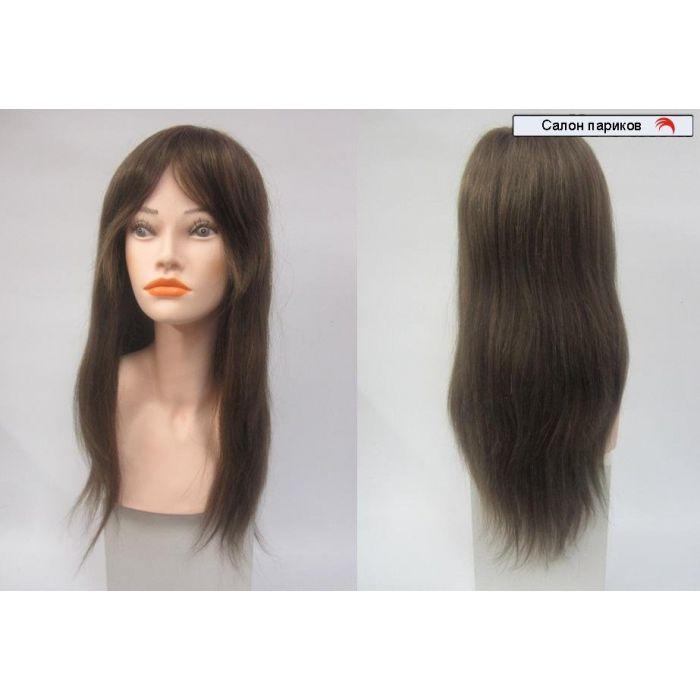 натуральные парики на сетке 100106 super Mono (темно-русый)