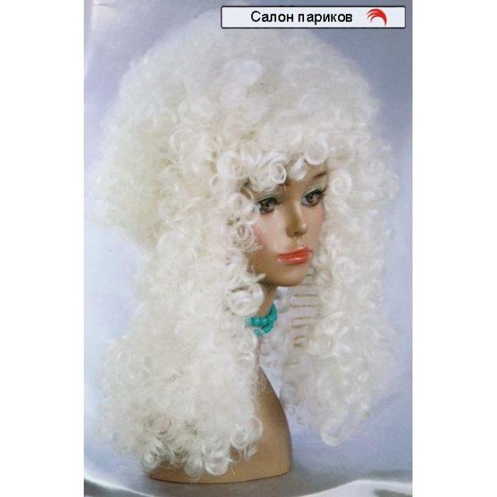 Белый кудрявый парик GJ 2