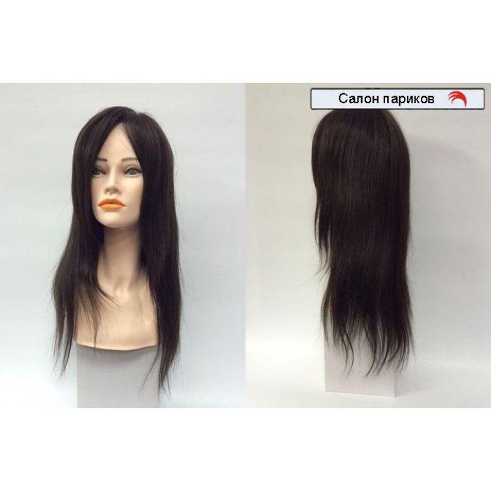 натуральный парик из славянских волос 100004-60 Mono (темно-каштановый)