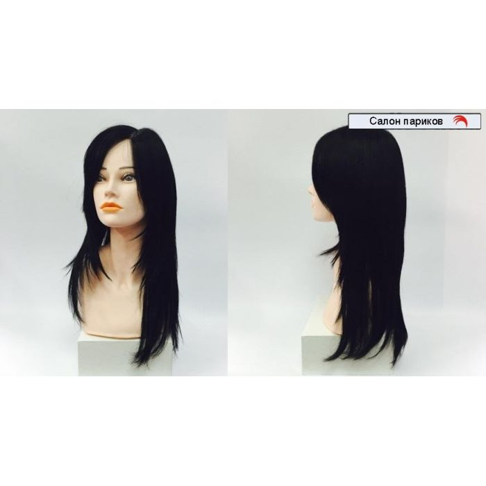 натуральный длинный парик без челки 9205