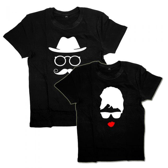 Парные футболки с рисунком