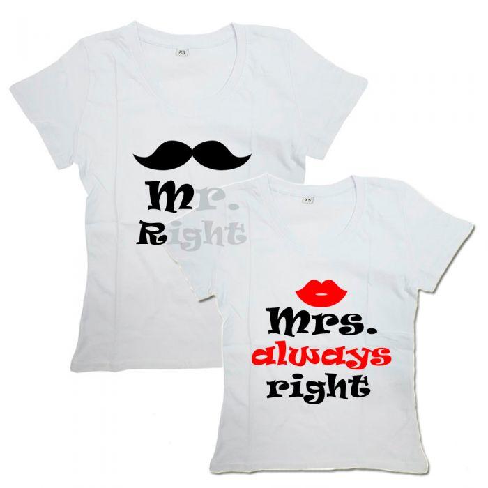 """Парные футболки с надписью """"Right&Always Right"""""""