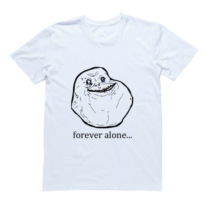 """Футболка с принтом """"Forever alone"""""""