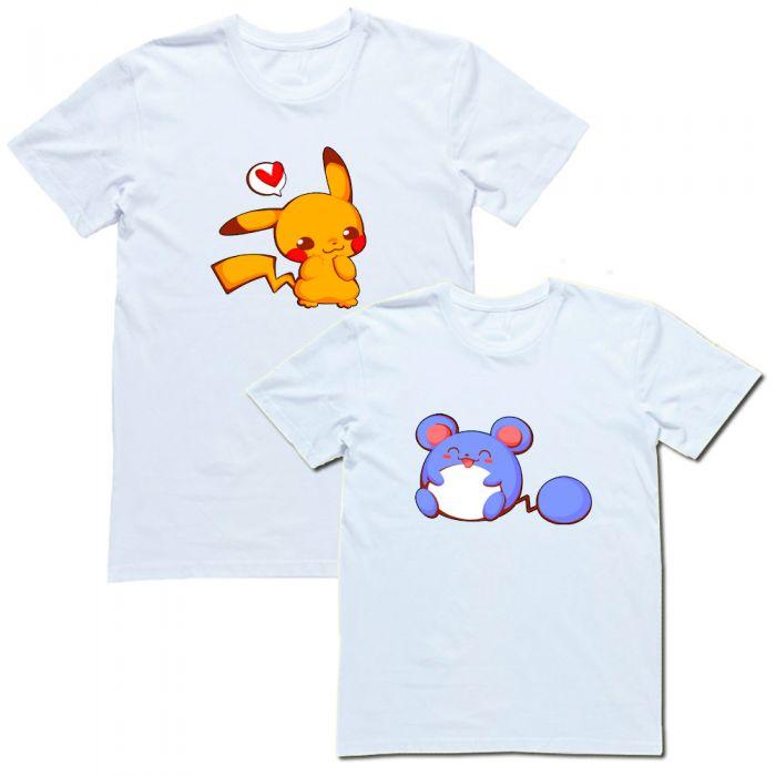 """Парные футболки """"Пикачу"""""""