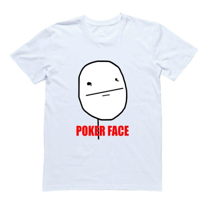 """Футболка с принтом """"Poker Face"""""""