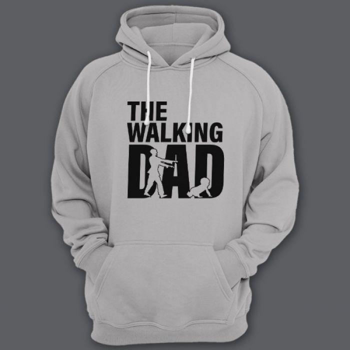 """Толстовка с капюшоном для папы с надписью """"Walking dad"""""""