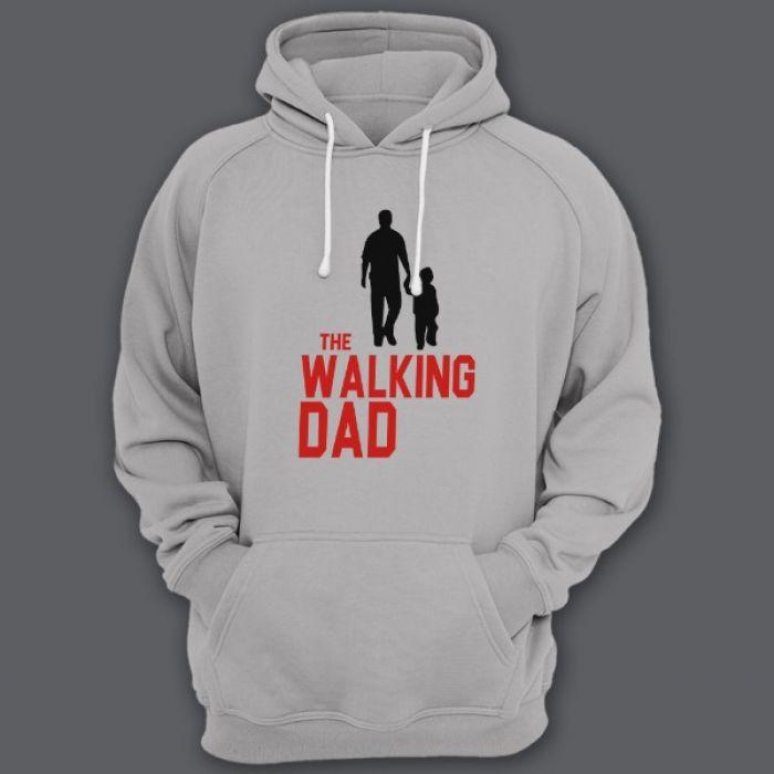 """Толстовка с капюшоном для папы с надписью """"The walking dad"""" (""""Ходячий отец"""")"""