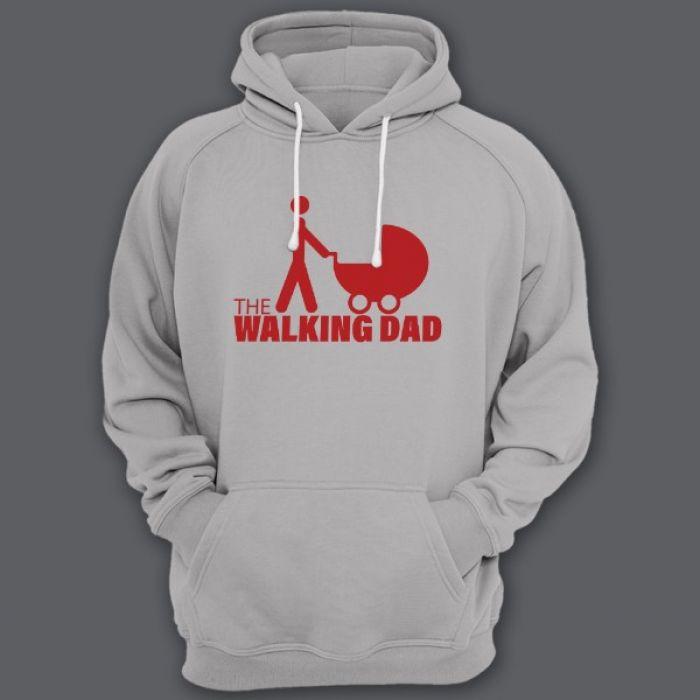 """Прикольная толстовка с капюшоном с надписью """"The walking dad"""" (""""ходячий отец"""")"""