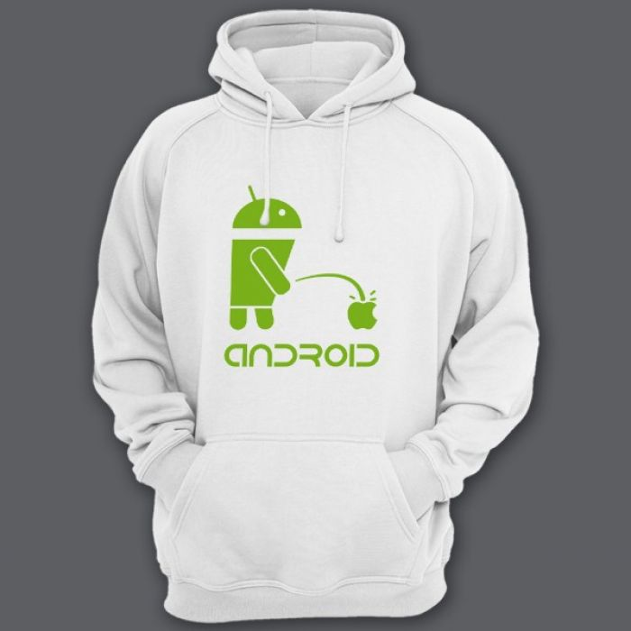 """Прикольная толстовка с капюшоном с надписью """"Android"""""""