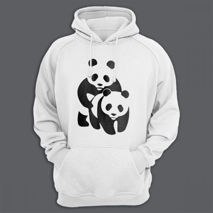 """Толстовка с капюшоном с принтом """"Панда спит с пандой"""""""