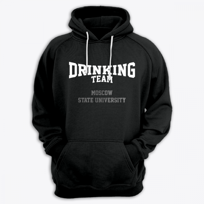 "Толстовка с капюшоном с надписью ""Moscow State University DRINKING TEAM"""