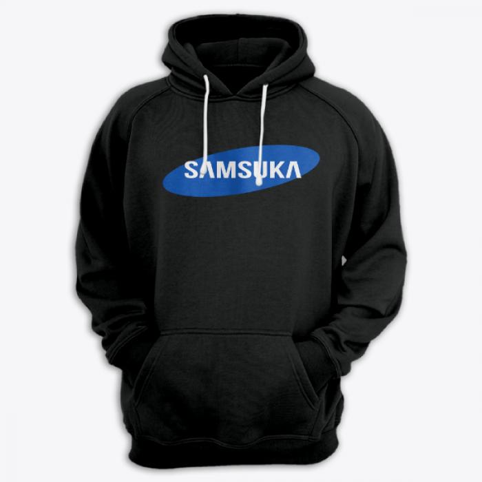 """Толстовка с капюшоном с надписью """"Samsuka"""""""