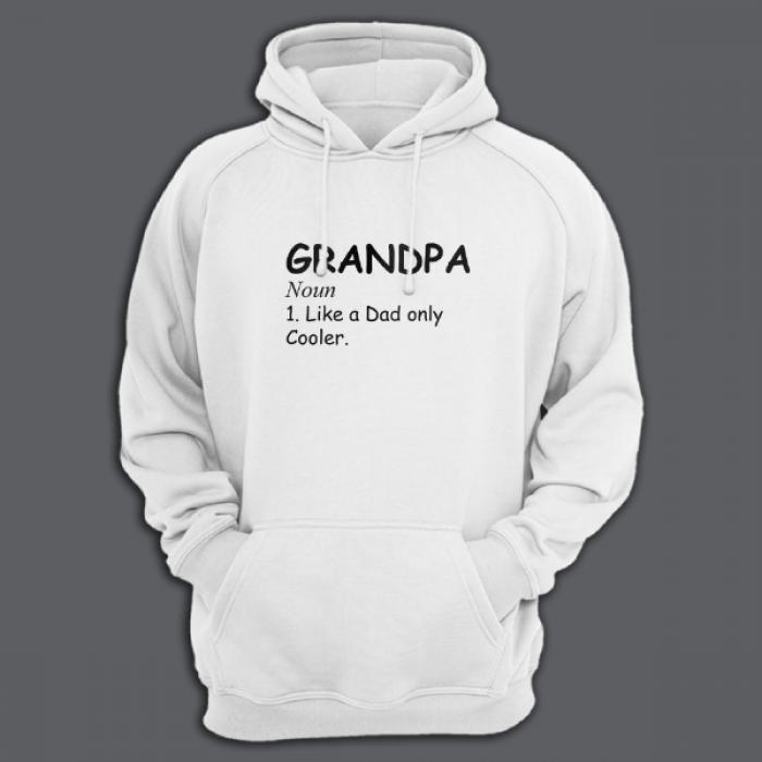 """Толстовка в подарок для дедушки с принтом """"Grandpa. Noun. Like a dad only cooler"""""""