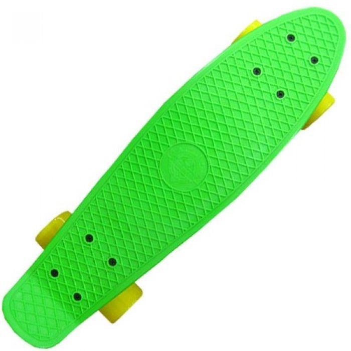 Пенни борд Ecobalance зеленый с желтыми колесами