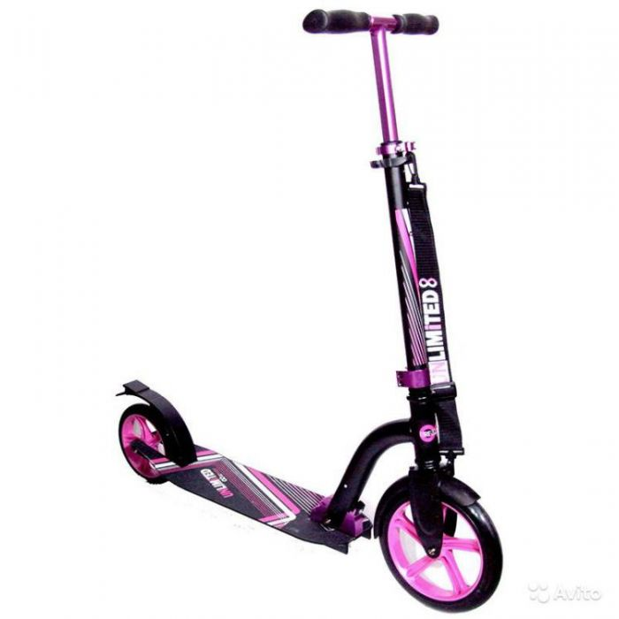 Самокат Unlimited NL500 R фиолетовый
