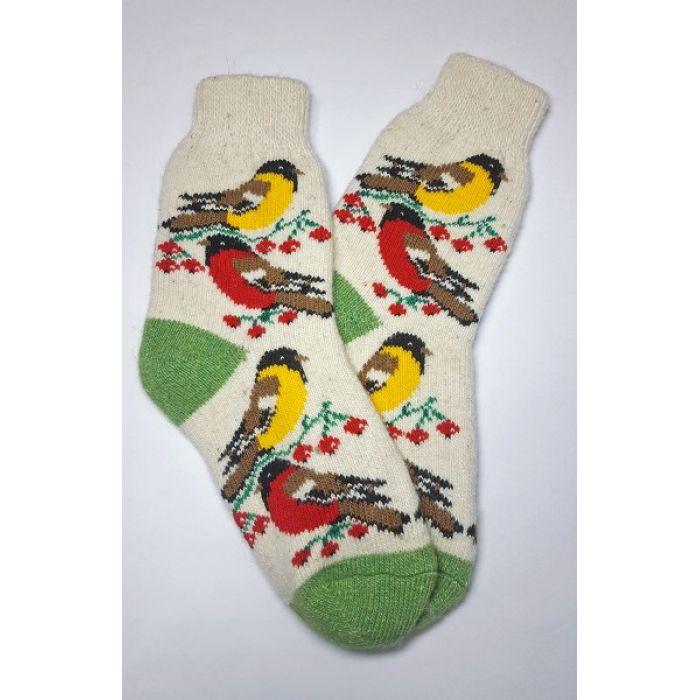 Красочные шерстяные носки с птицами мужские