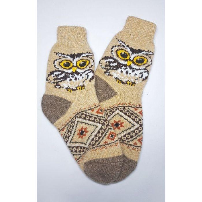 Шерстяные носки с  озорными совами мужские