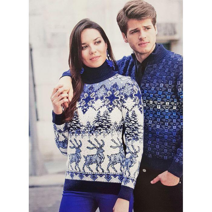 Женский свитер с оленями 130-134