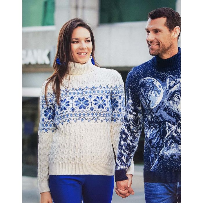 Женский свитер с узором 130-142